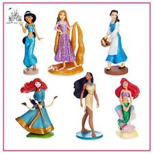 DISNEY PRINCESS ARIEL JASMINE BELLE RAPUNZEL FIGURINE FIGURES CAKE TOPPER SET