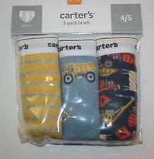 New Carter's 3 Pairs Underwear Boy Briefs NWT 2T 3T 4T 5T 6 7 Year Dump Truck
