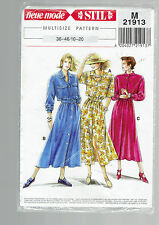 STIL pattern M21913 shirtwaist dress Sz 10 12 14 16 18 20 sealed unused  80s