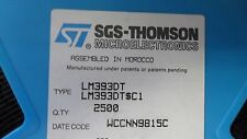 (100 PER LOT), IC, LM393D LM393DT LM393M, DUAL COMPARATOR 8-PIN SOIC