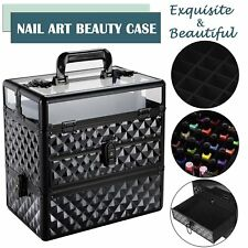 Professional Large Nail Tech Storage Make Up Vanity Case Cosmetic Beauty Box New