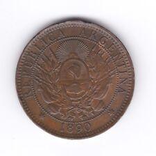 ARGENTINA 1890  DOS CENTAVOS  CU  VF+