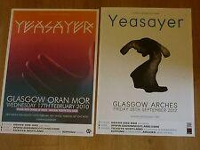 Yeasayer - Scottish tour Glasgow concert gig posters x 2