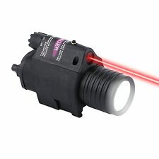 M6 Tactical Airsoft Red Dot LED Flashlight Sight Scope w/ 20mm Picatinny Mount