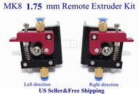 US MK8 All-metal 1.75mm Remote Extruder Kit For 3D Printer Makerbot Reprap