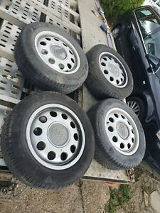 "AUDI A3 A2 VW GOLF POLO  15"" INCH PEPPERPOTS LIGHT WEIGHT ALLOY WHEELS x4 alloys"