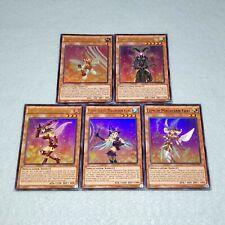 Yugioh Chocolate Magician Girl Berry Lemon Kiwi Apple Ultra Rare 5 Card Set NM