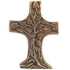 Bronzekreuz Lebensbaum 11,5 cm * 8 cm Kommunion Bronze Cross Tree of Life