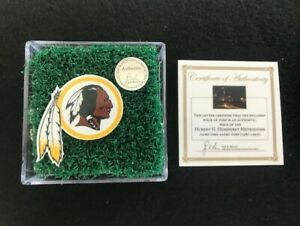 Washington Redskins Decal & Game Used Superbowl XXVI 26 Astro Turf! Rare!