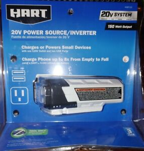 HART HGBT150 20V Lithium-ion Power Source/Inverter, 150 Watts (Tool-Only) NEW!!!