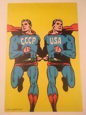 CIESLEWICZ CCCP USA Superman 1968 Original Poster