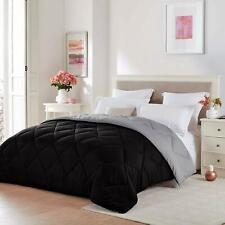 Seward Park Solid, Reversible Color Microfiber Comforter, Hypoallergenic Plush