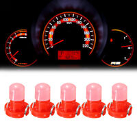 10Pc* Red T3 Neo Wedge LED Bulb Cluster Instrument Dash Climate Base Lamp Light