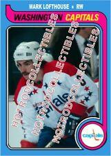 1979-80 OPC O Pee Chee Custom Mark Lofthouse Washington Capitals NHL #546