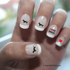 Dachshund Love Nail Art Red (DPNA005)- Free Shipping