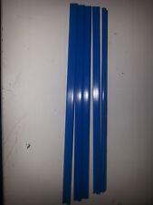 QTY 10 (TEN) A4 SLIDE BINDERS 5MM CAPACITY BLUE - LENGTH 297 MM-ROUND