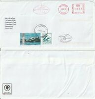 LUNDY 28 APRIL 2012 6 & 35 PUFFIN STAMPS & METERED MAIL COMMERCIAL COVER