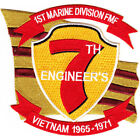1st Marine Division Fleet Marine Force 7th Engineers PatchPatches - 36078