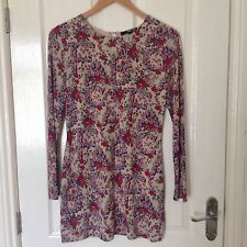 LADIES 'TFNC' MULTI FLORAL TUNIC DRESS. SIZE SMALL. GOOD CONDITION.
