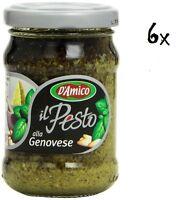 6x D'Amico Pesti alla Genovese Pesto mit Basilikum sauce Soße 90g italien nudel