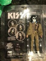 """KISS Dressed To Kill 8"""" Action Fig  Variant ACE Frehley /Gene Simmons Brown Suit"""