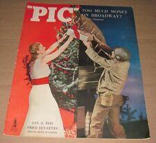 JAN 2 1945 MAGAZINE - PIC - TOO MUCH MONEY ON BROADWAY ?