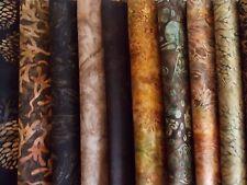 "Brown Batiks Fabric 30 Piece Jelly Roll 2.5"" x 44"" Fabric Strips Premium Cotton"