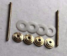 Hardware For Straight Razor Making Supply 4 Brass Collars 2 Brass Pins 4 Washers