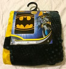 Dc Comics Superhero Batman Bat Logo Symbol Super Plush Throw Blanket New 48x60