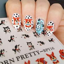 BORN PRETTY Water Decal Cute Dog Nail Art Transfer Sticker Decoration BPY16