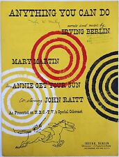 IRVING BERLIN television program song ANNIE GET YOUR GUN Mary Martin NBC-TV 1957