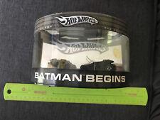 Hot Wheels Batman Begins Batmobile Tumbler Set 2005 Limited Edition Adult Col 1V