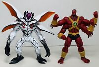 "2010 BANDAI BEN 10 HYPER ALIEN FOURARMS AND HIGHBREED 7"" Lot Of 2 ULTIMATE"
