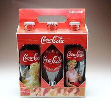 100th Anniversary Trio Coke Bottles w/ Carrier Carton Box Coca Cola Japan NEW