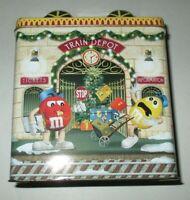 2001 M&M's Christmas Village #13 Train Depot Tin