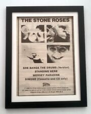 STONE ROSES She Bangs The Drum 1989*ORIGINAL*POSTER*AD*FRAMED*FAST WORLD SHIP
