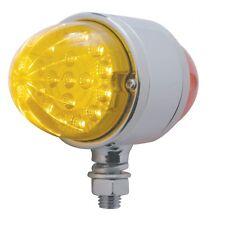 17 LED Double Face Light Turn Signal - Amber LED/Red LED - Semi Truck Fender