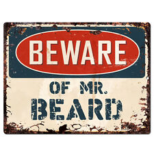 PBMR0660 Beware of MR. BEARD Chic Plate Sign Home Decor Funny Gift Ideas
