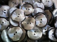 25mm 23mm 20mm 18mm Grey Pearlescent 2 Hole Coat Buttons (W142a W165A W150A)