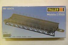 FALLER H0 1:87  TRATTO DRITTO PER RAMPA / PONTE FERROVIARIO TRACK-BED ART 120474
