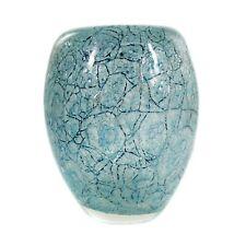 WMF Vase mit hellblauen Oxideinschmelzungen, Dexel-Ei, Entwurf Walter Dexel 1937