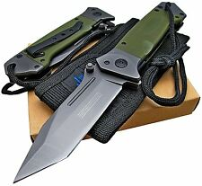 Tactical Spring Assisted Opening Knife Switch Blade Knife Blade Military Grade
