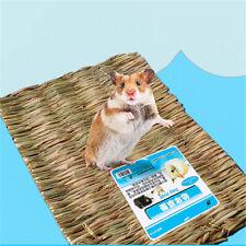 Natural Grass Hamster Bed Mat Rabbit Grass Mat Nest Cage Safe Chew Pet ToyL J2