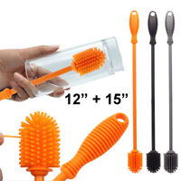 HN- Functional Silicone Long Handle Baby Infant Feeding Bottle Cleaning Brush No
