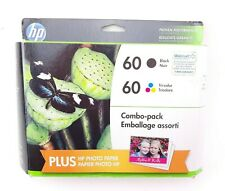 Genuine HP 60 Combo Pack Black & Tri Color Ink Cartridges Expired 03/2017