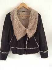 New Look Fleece Trimmed Jacket Size 16 Lightweight Soft <R5737