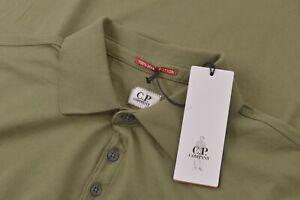 C.P. Company NWT Polo Shirt Short Sleeve Size L In Moss Green Mako Cotton