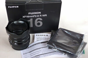 FUJINON XF 16mm f2.8 R WR LENS BLACK. BOXED, NEAR MINT.