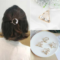 Metal Imitiation Pearl Hairclips Crystal Hairgrips Barrettes Hair Clips
