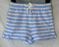 Girls Ralph Lauren Light Blue White Stripe Elasticated Waist Shorts Age 4 Years